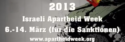 Israeli Apartheit Week  2013